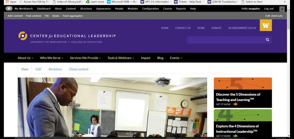 new CEL website